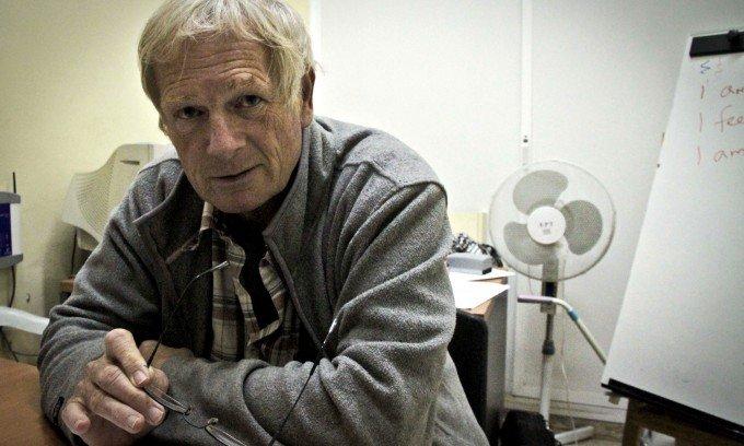John Burke, voluntario del Área de Educación
