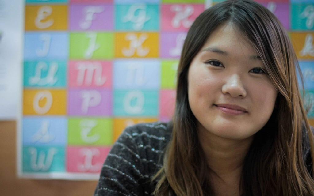 Aya Kawakami, voluntaria del Área de Educación