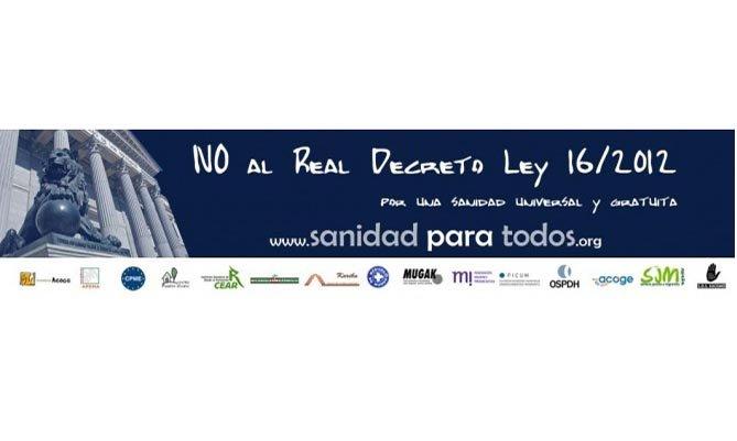 La campaña 'Sanidad para todos' recibe el apoyo de más de 100 asociaciones de toda España y 24.500 visitas en la web