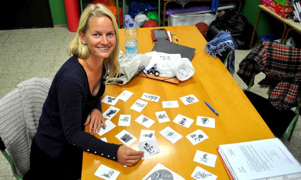 Anne Mogensen, voluntaria del Área de Educación