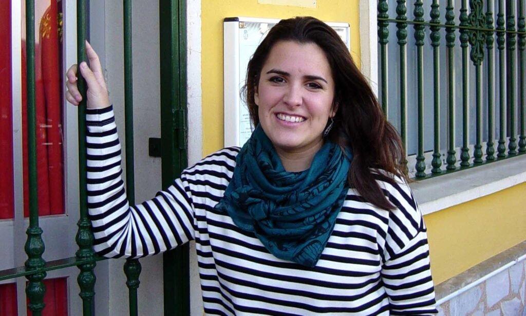 Ángela, que ayuda en la sede de Fuengirola.
