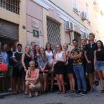 Estudiantes daneses se interesan por la labor de Málaga Acoge
