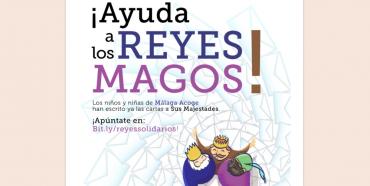 Ayuda a los Magos de Oriente a traer los regalos a niños y niñas de Málaga Acoge