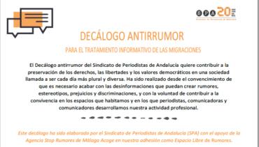Decálogo antirrumor para el tratamiento informativo de las migraciones