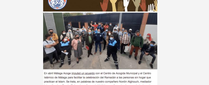 Abril: Málaga Acoge apuesta por la convivencia y la igualdad de derechos
